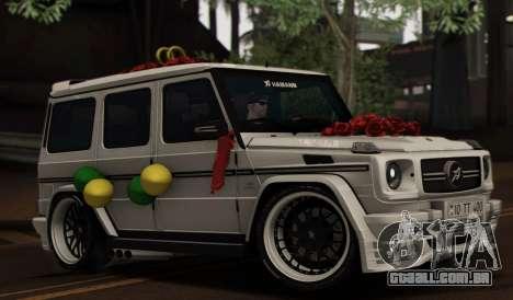 Mercedes Benz G65 Hamann Tuning Wedding Version para GTA San Andreas vista inferior
