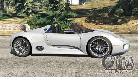 GTA 5 Porsche 918 Spyder vista lateral esquerda