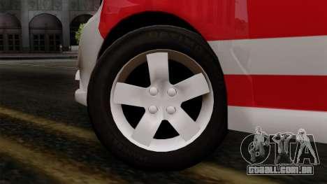 Chevrolet Aveo Taxi Poza Rica para GTA San Andreas traseira esquerda vista