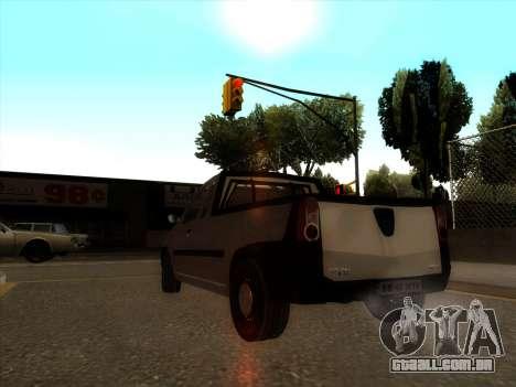 Dacia Logan Pick-up Necarosat para GTA San Andreas traseira esquerda vista