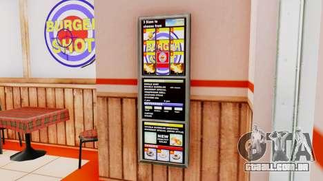Real de fast food para GTA San Andreas por diante tela