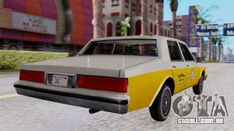 Chevrolet Caprice 1980 SA Style Cab para GTA San Andreas esquerda vista