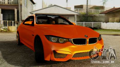 BMW M4 para GTA San Andreas traseira esquerda vista