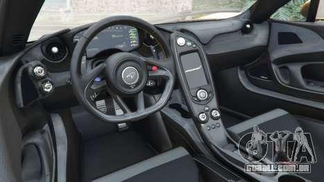 GTA 5 McLaren P1 2014 frente vista lateral direita