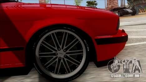 BMW M5 E34 BUFG Edition para GTA San Andreas traseira esquerda vista