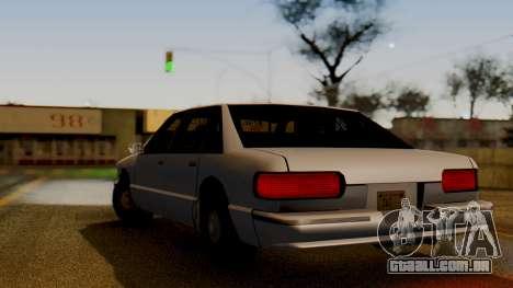 Declasse Premier para GTA San Andreas esquerda vista