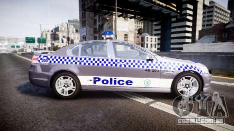 Holden VE Commodore SS Highway Patrol [ELS] para GTA 4 esquerda vista