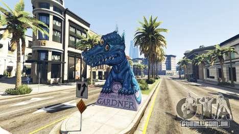Estátua Do Dragão Ilusion para GTA 5