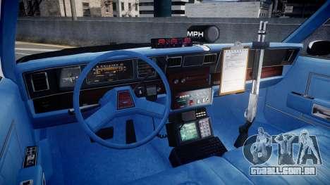 Chevrolet Caprice 1989 LAPD [ELS] para GTA 4 vista de volta