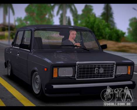 VAZ 2107 Escoamento de Qualidade para GTA San Andreas vista traseira