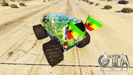 GTA 5 Vapid The Liberator Cannabis traseira vista lateral esquerda