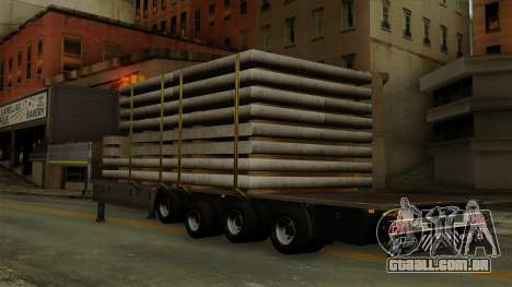 Flatbed3 Grey para GTA San Andreas esquerda vista