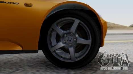 Honda S2000 Fast and Furious para GTA San Andreas traseira esquerda vista