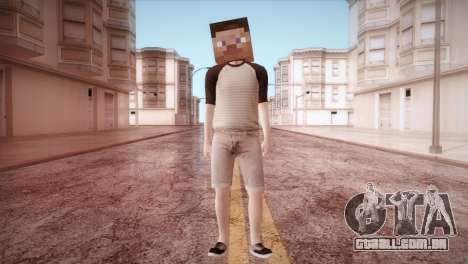 Minecraft Boy para GTA San Andreas segunda tela