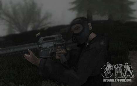 GTA5 Gasmask para GTA San Andreas quinto tela