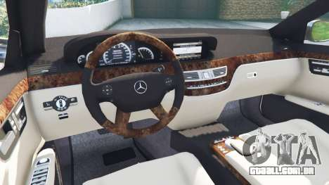 GTA 5 Mercedes-Benz S500 W221 v0.2 [Alpha] traseira direita vista lateral