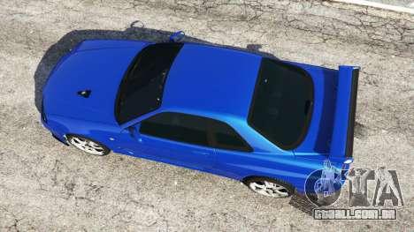 GTA 5 Nissan Skyline R34 GT-R v0.1 voltar vista