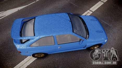 Ford Escort RS Cosworth para GTA 4 vista direita