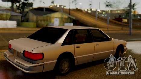 Declasse Premier para GTA San Andreas traseira esquerda vista