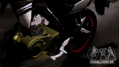 Yamaha Vixion Advance Lominous White para GTA San Andreas vista traseira