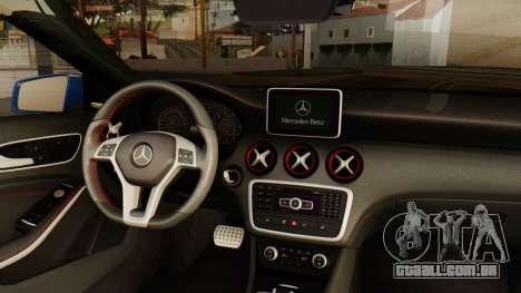 Mercedes-Benz A45 AMG 2012 PJ para GTA San Andreas traseira esquerda vista