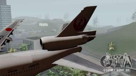 DC-10-30 Japan Airlines para GTA San Andreas traseira esquerda vista