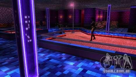 Retextured interior clubes de strip para GTA San Andreas terceira tela
