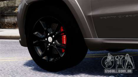 Jeep Grand Cherokee SRT8 2015 para GTA 4 vista direita