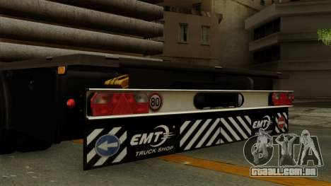 Flatbed3 Grey para GTA San Andreas vista direita