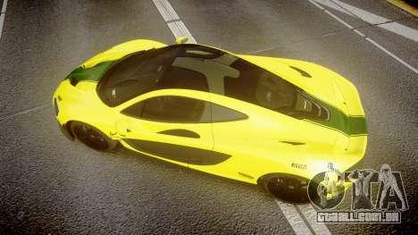 McLaren P1 2014 [EPM] Harrods GTR para GTA 4 vista direita