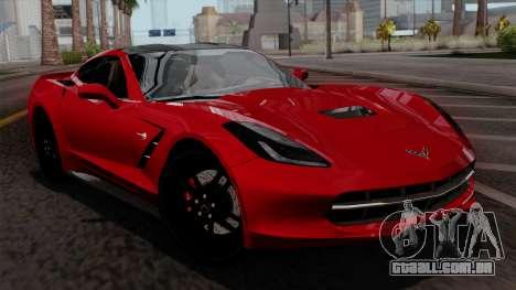 Chevrolet Corvette C7 Stingray 1.0.1 para GTA San Andreas