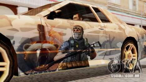 Elegy Contract Wars Vinyl para GTA San Andreas traseira esquerda vista