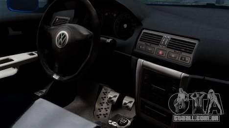 Volkswagen Golf Mk4 Stance para GTA San Andreas vista direita