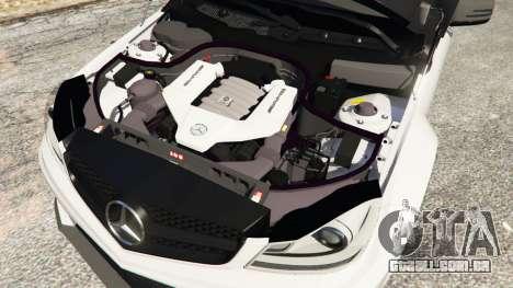 GTA 5 Mercedes-Benz C63 AMG 2012 vista lateral direita