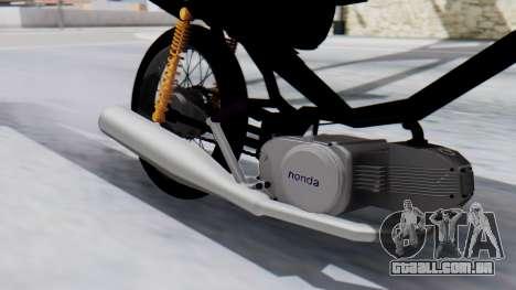 Honda Wave Stunt para GTA San Andreas traseira esquerda vista