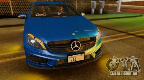 Mercedes-Benz A45 AMG 2012 PJ para GTA San Andreas vista interior