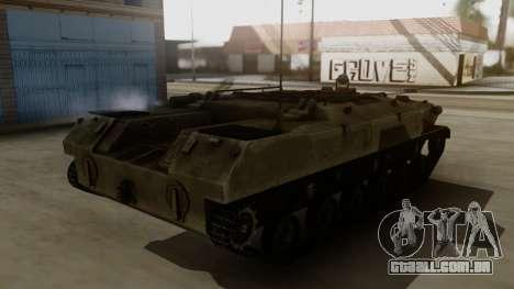 BTR-D para GTA San Andreas traseira esquerda vista
