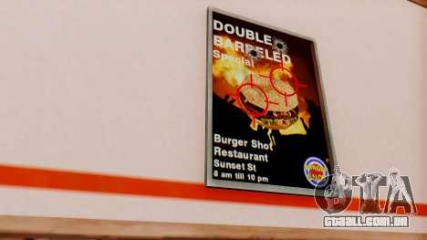 Real de fast food para GTA San Andreas terceira tela