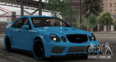 Mercedes-Benz E63 Qart Tuning para GTA San Andreas vista superior