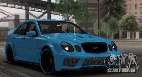 Mercedes-Benz E63 Qart Tuning para GTA San Andreas vista superior