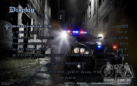 Night Menu para GTA San Andreas quinto tela