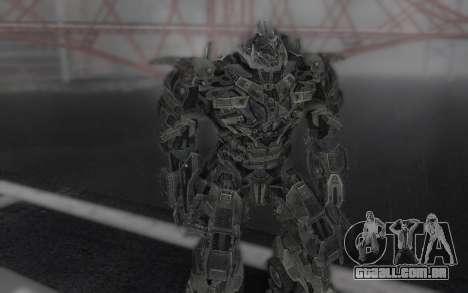 Megatron TF3 para GTA San Andreas terceira tela