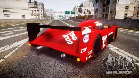 Toyota GT-One TS020 Le Mans 1999 para GTA 4 traseira esquerda vista