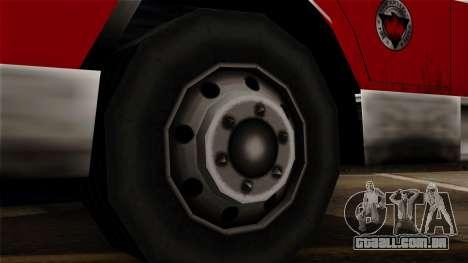 FDSA Urban Search & Rescue Truck para GTA San Andreas traseira esquerda vista