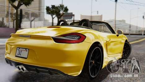 Porsche Boxter GTS 2016 para GTA San Andreas esquerda vista