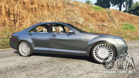GTA 5 Mercedes-Benz S500 W221 v0.2 [Alpha] vista lateral esquerda