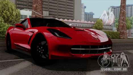 Chevrolet Corvette C7 Stingray 1.0.1 para GTA San Andreas vista interior