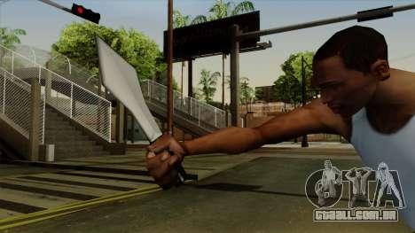 Faca de arremesso para GTA San Andreas terceira tela