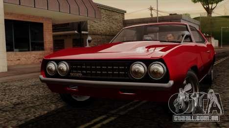 GTA 5 Declasse Vigero IVF para GTA San Andreas esquerda vista