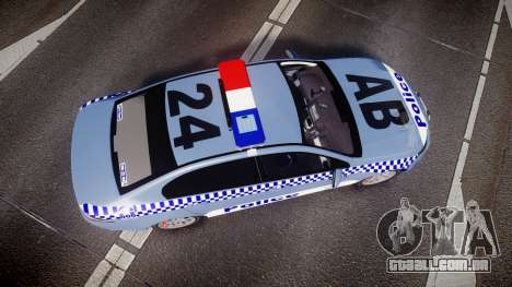 Ford Falcon FG XR6 Turbo NSW Police [ELS] v2.0 para GTA 4 vista direita